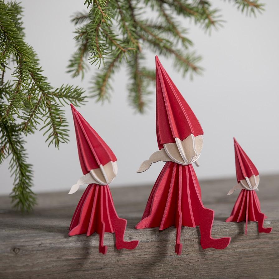 Lovi Elf Girl, bright red, three sizes