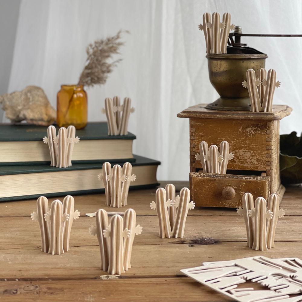 Hattifatteners by Lovi, wooden 3D figures