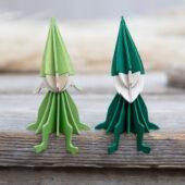 Lovi Girl Elf and Elf sitting on a table edge