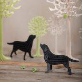 Lovi Labradors and Trees, wooden 3D puzzles