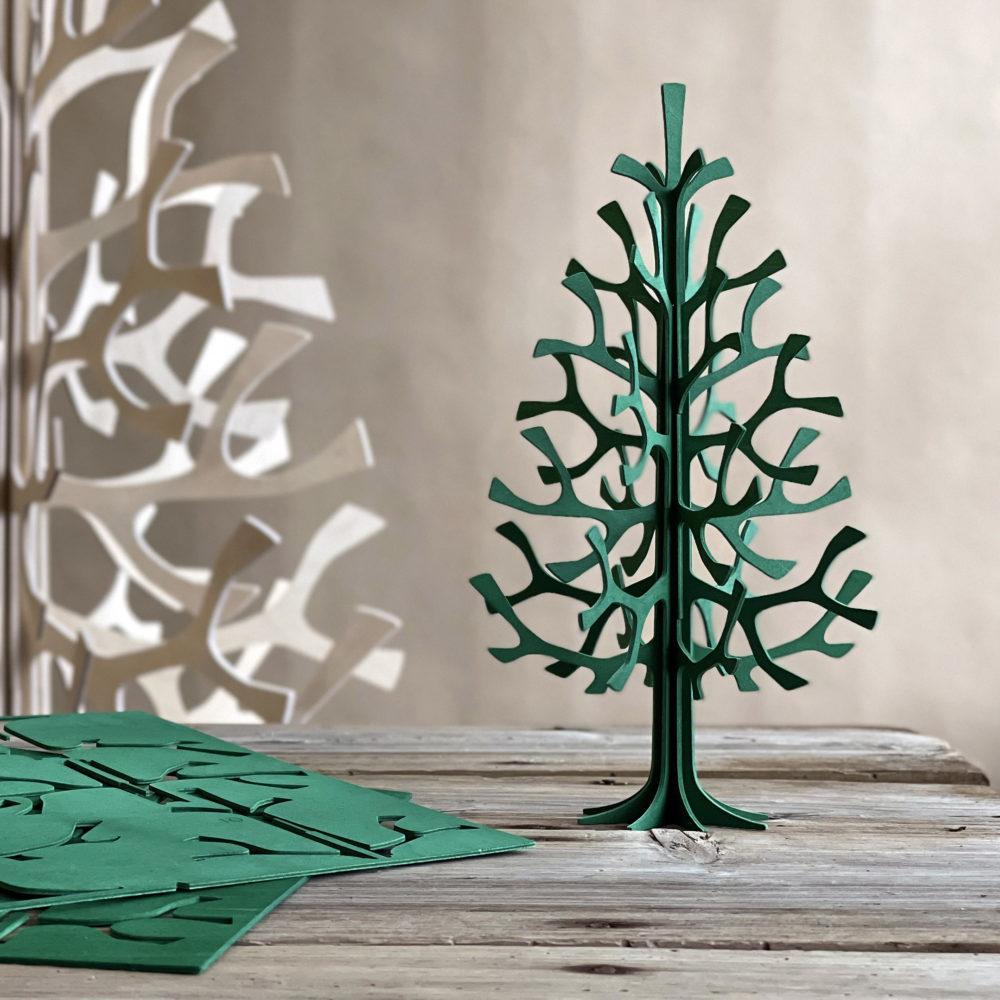 Lovi Spruce 25cm, dark green, wooden 3D figure