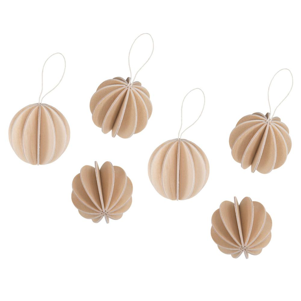 The Original Lovi Baubles 4cm, natural wood, wooden 3D puzzle
