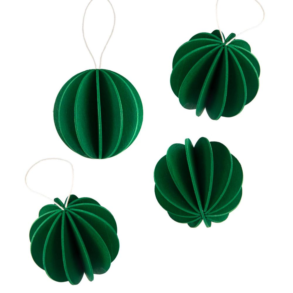 The Original Lovi Baubles 6cm, dark green, wooden 3D puzzles