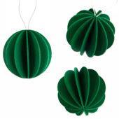 The Original Lovi Baubles, dark green, wooden 3D puzzle