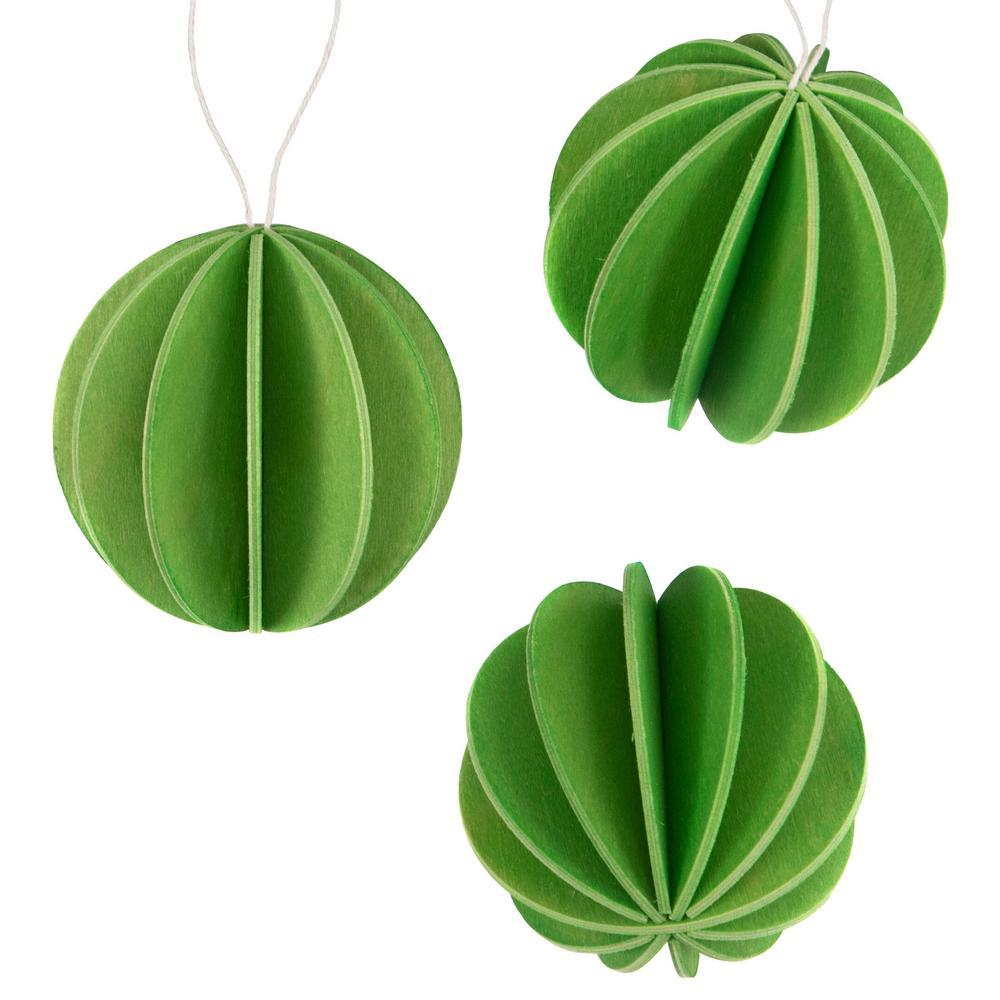 Alkuperäiset Lovi-pallot 8cm, vaaleanvihreä, koottavat puiset koristeet