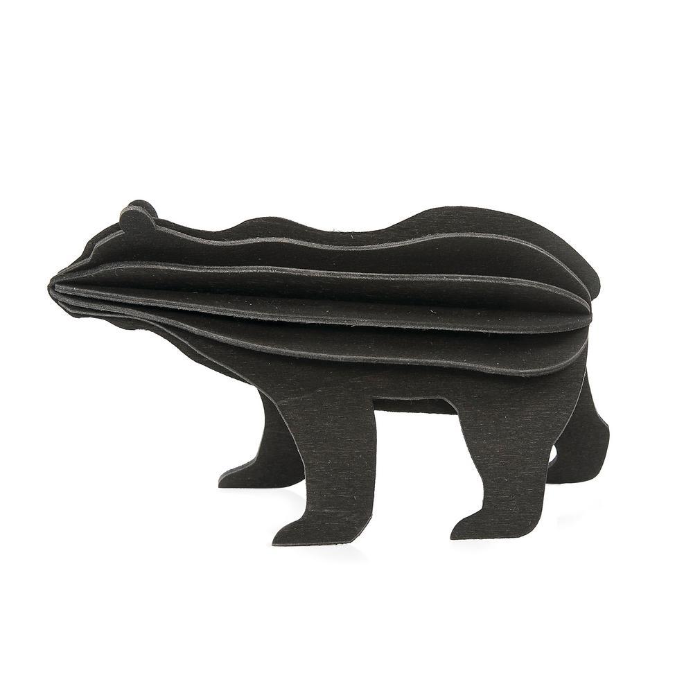 Lovi Bear, black, wooden 3D puzzle