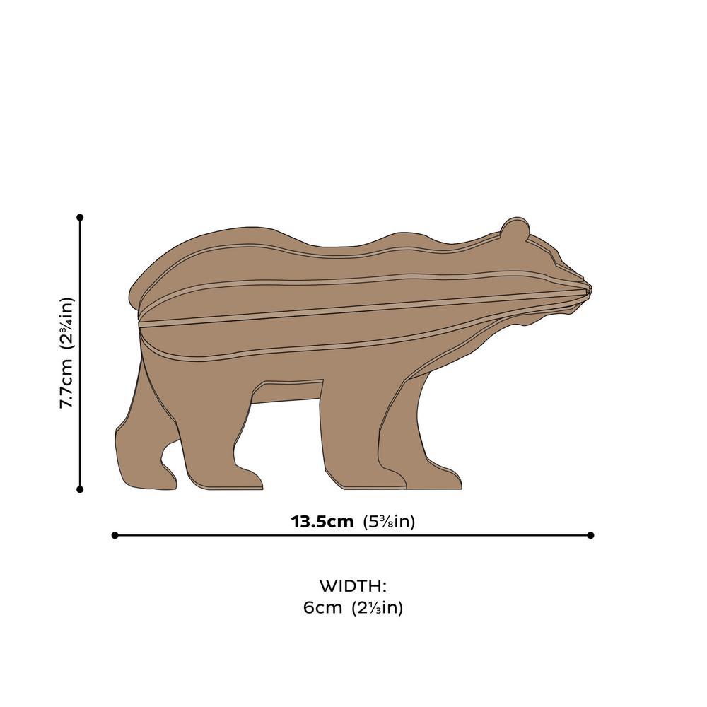 Lovi Bear, wooden 3D puzzle,measures