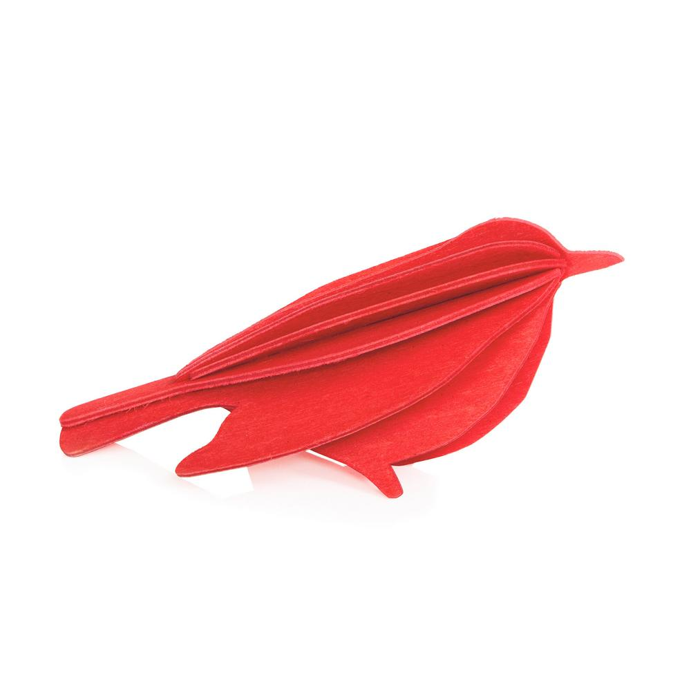 Lovi Bird, bright red, wooden 3D puzzle