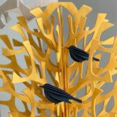 Lovi Birds 12cm sitting on warm yellow Lovi Tree 100cm