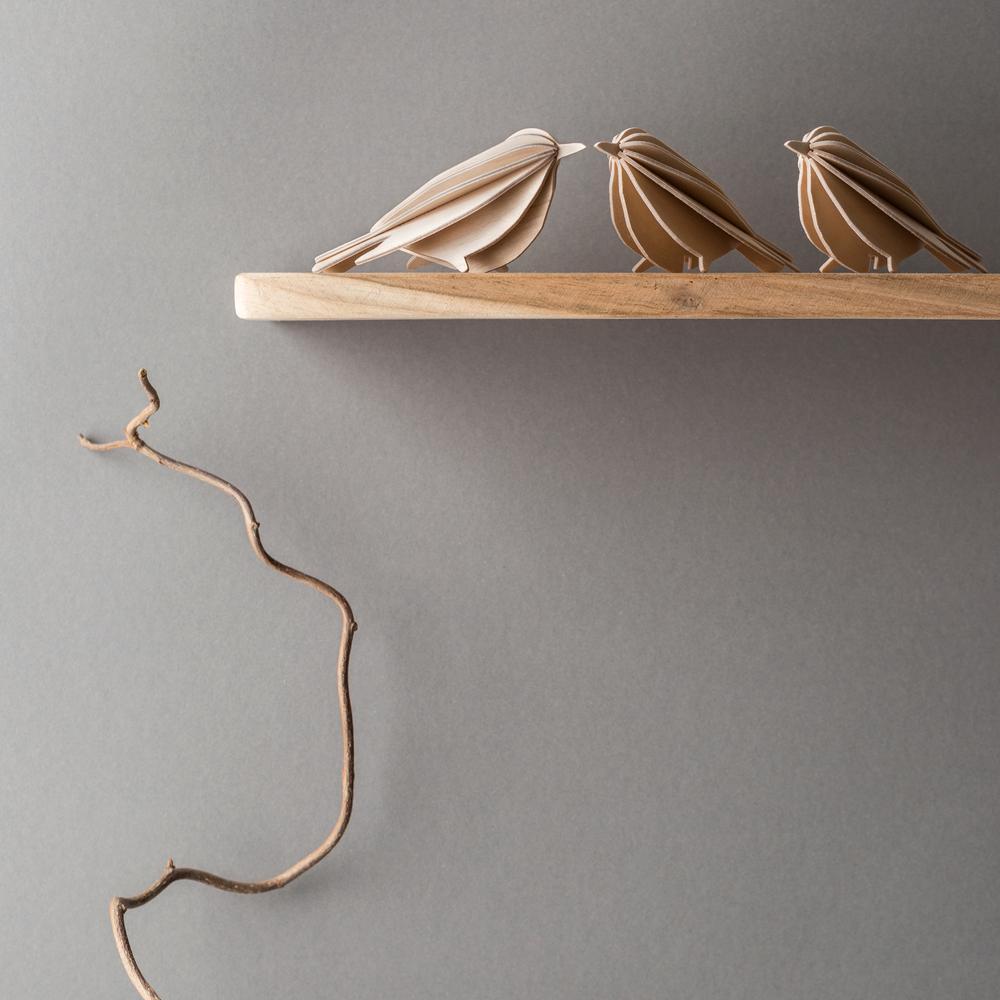 Lovi Birds on the shelf, wooden 3D puzzles