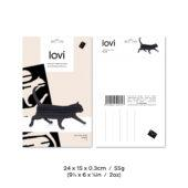 Lovi Cat, wooden 3D puzzle, package with measures