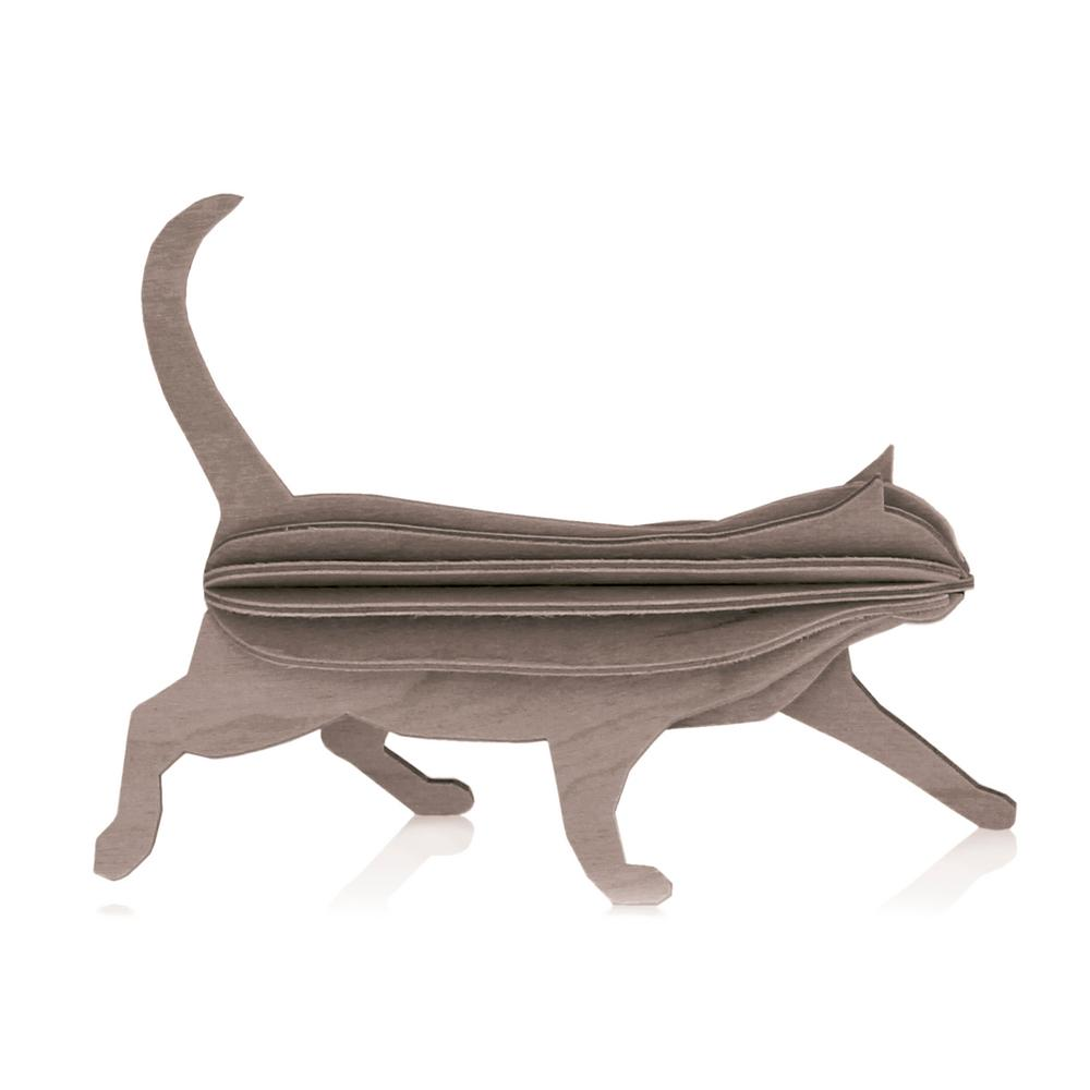 Lovi Cat, grey, wooden 3D puzzle