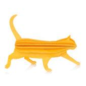 Lovi Cat, warm yellow, wooden 3D puzzle