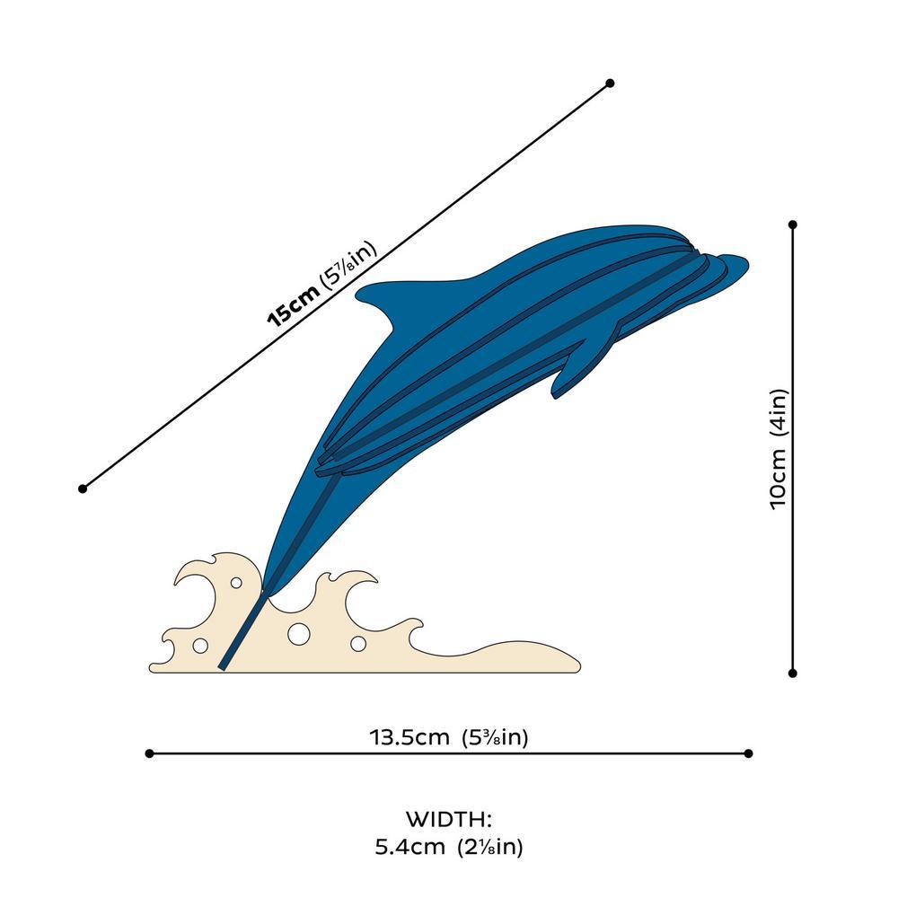 Lovi Dolphin, wooden 3D puzzle, measures