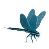 Lovi Dragonfly, dark blue, wooden 3D puzzle