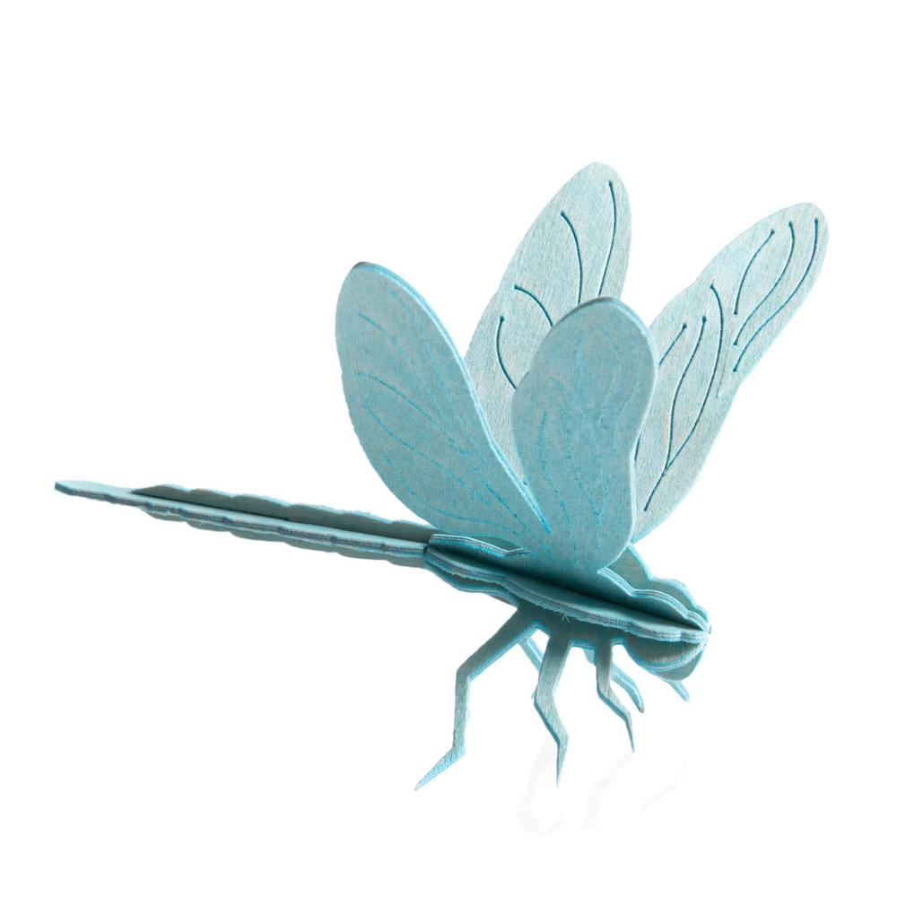 Lovi Dragonfly, light blue, wooden 3D puzzle