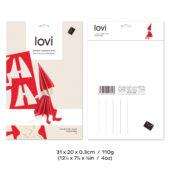 Lovi Elf Girl 16cm, wooden 3D puzzle, package with measures