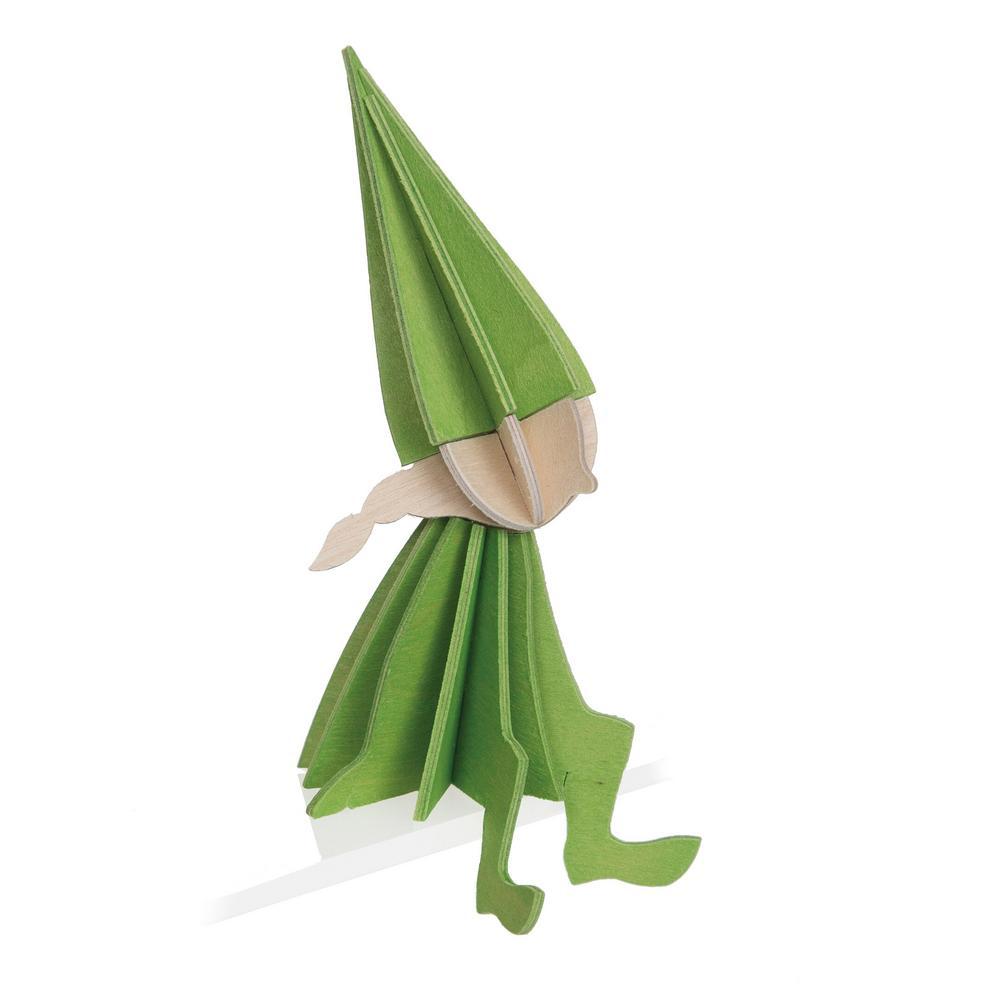 Lovi Elf Girl, light green, wooden 3D puzzle
