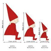 Lovi Elf Girl, wooden 3D puzzle, measures