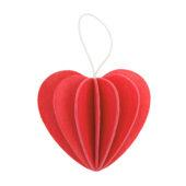 Lovi Heart, bright red, wooden 3D puzzle