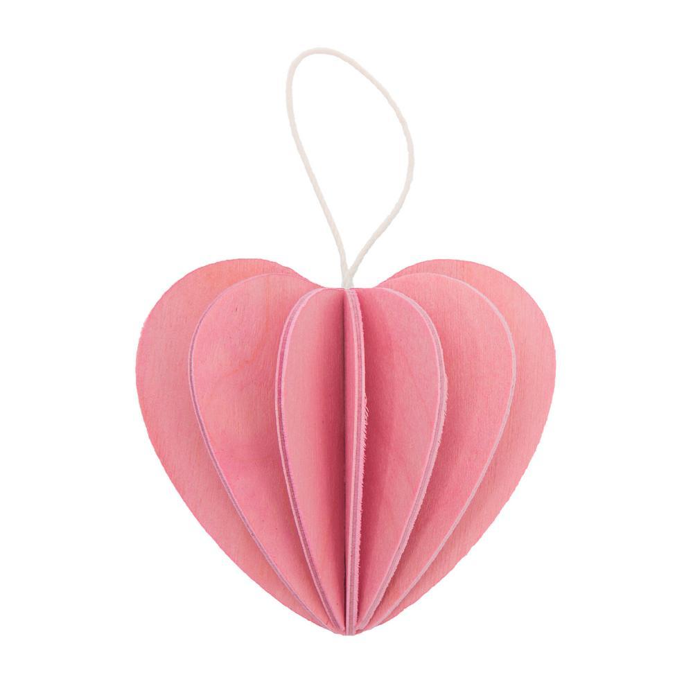 Lovi Heart, light pink, wooden 3D puzzle