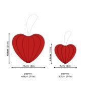 Lovi Heart, wooden 3D puzzle, measures