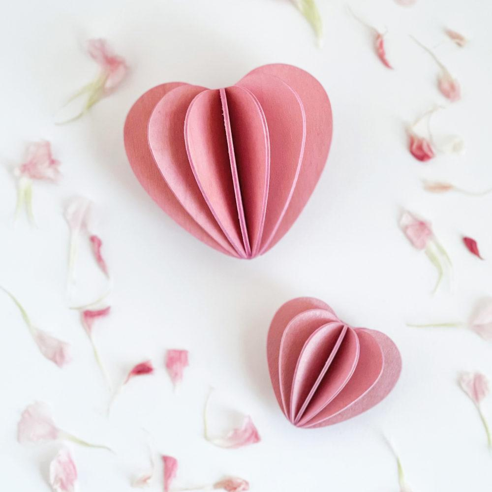 Lovi Heart, light pink, wooden 3D puzzle