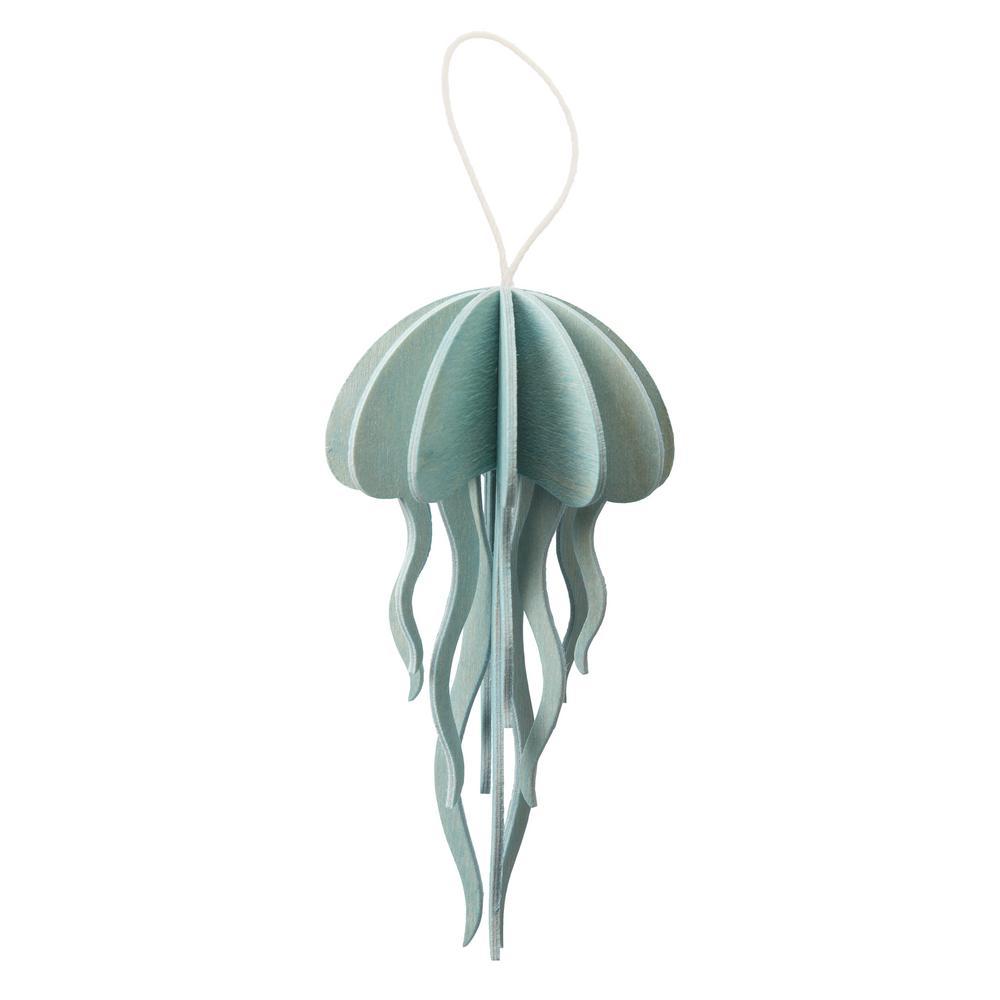 Lovi Jellyfish, light blue, wooden 3D puzzle