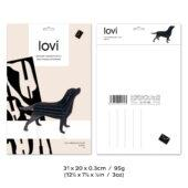 Lovi Labrador, wooden 3D puzzle, package with measures