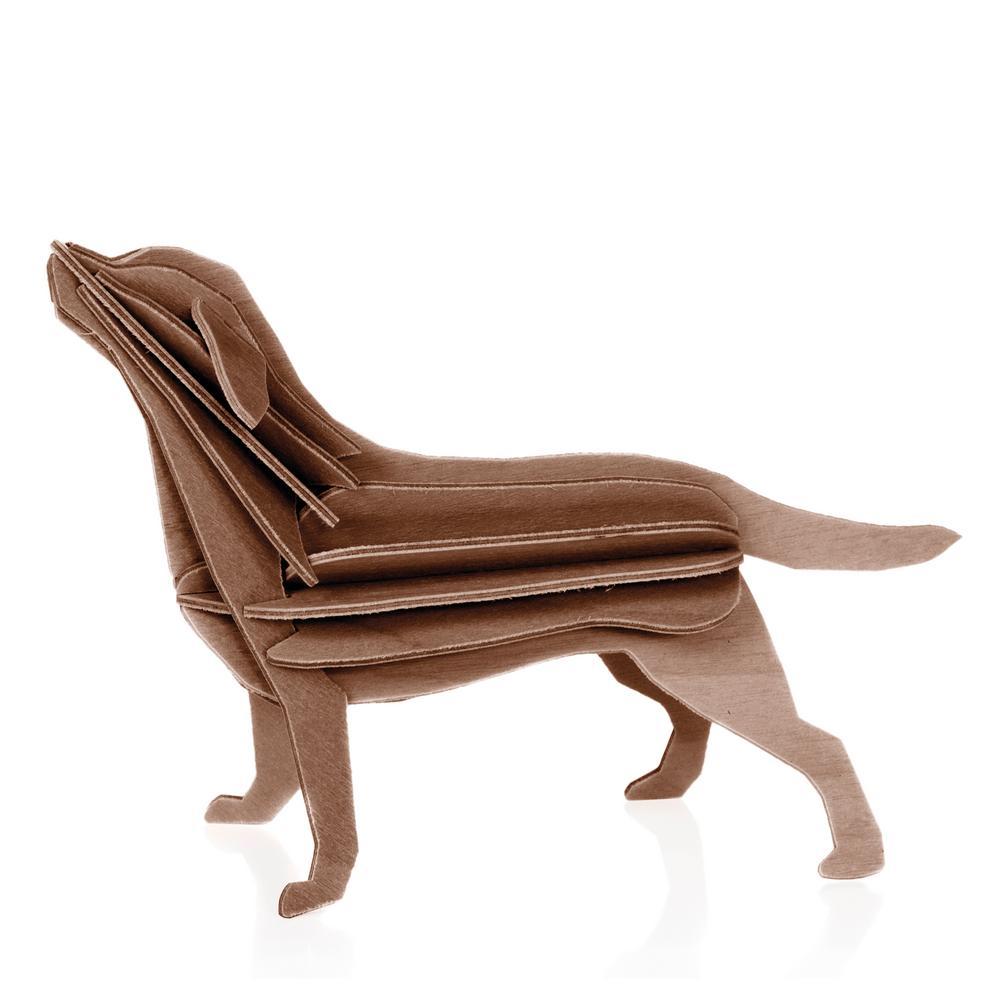 Lovi-labradori, ruskea, puinen koottava hahmo