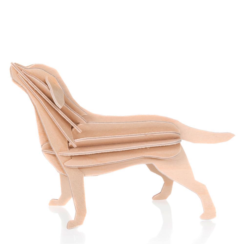 Lovi-labradori, puunvärinen, koottava puinen hahm
