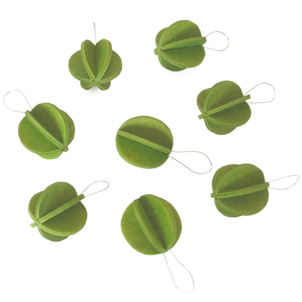 Lovi-minipallot, vaaleanvihreä, koottavat puiset koristeet