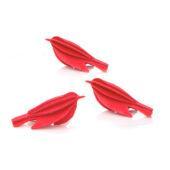 Lovi Minibird, bright red, wooden 3D puzzle