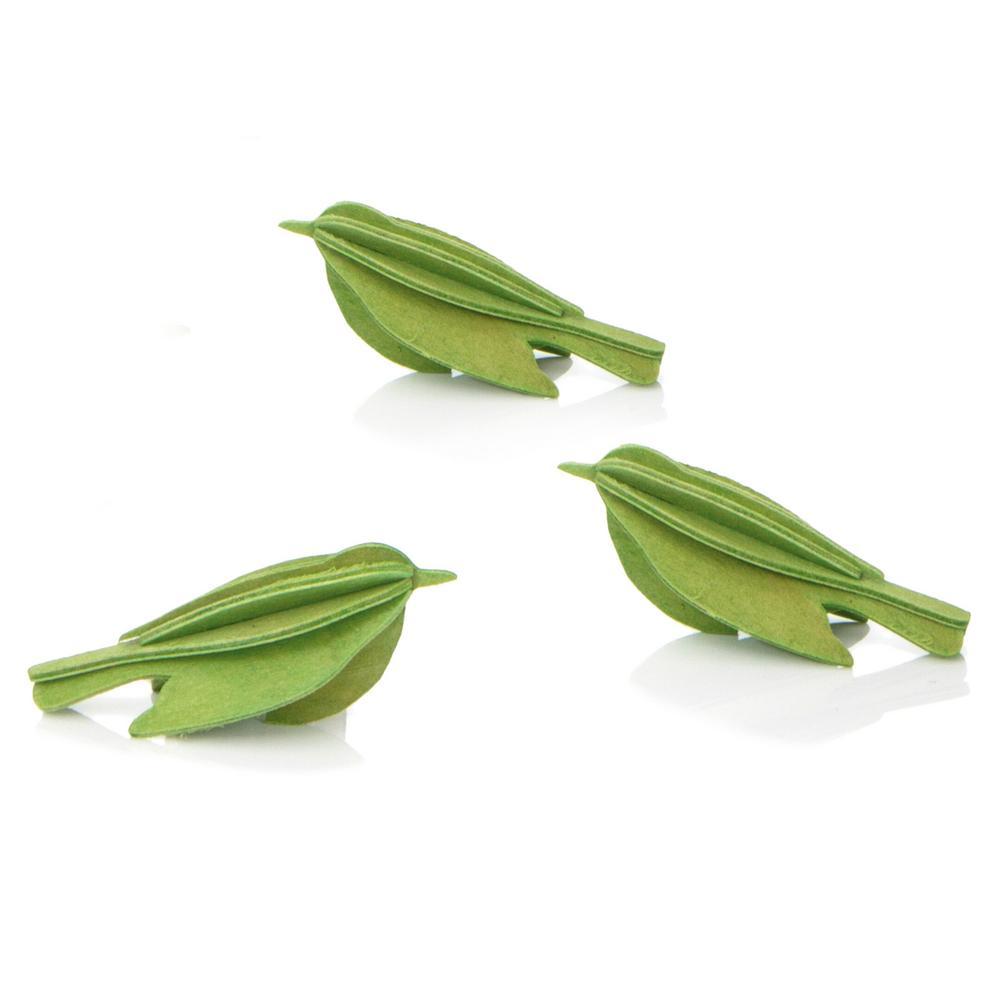 Lovi Minibird, light green, wooden 3D puzzle