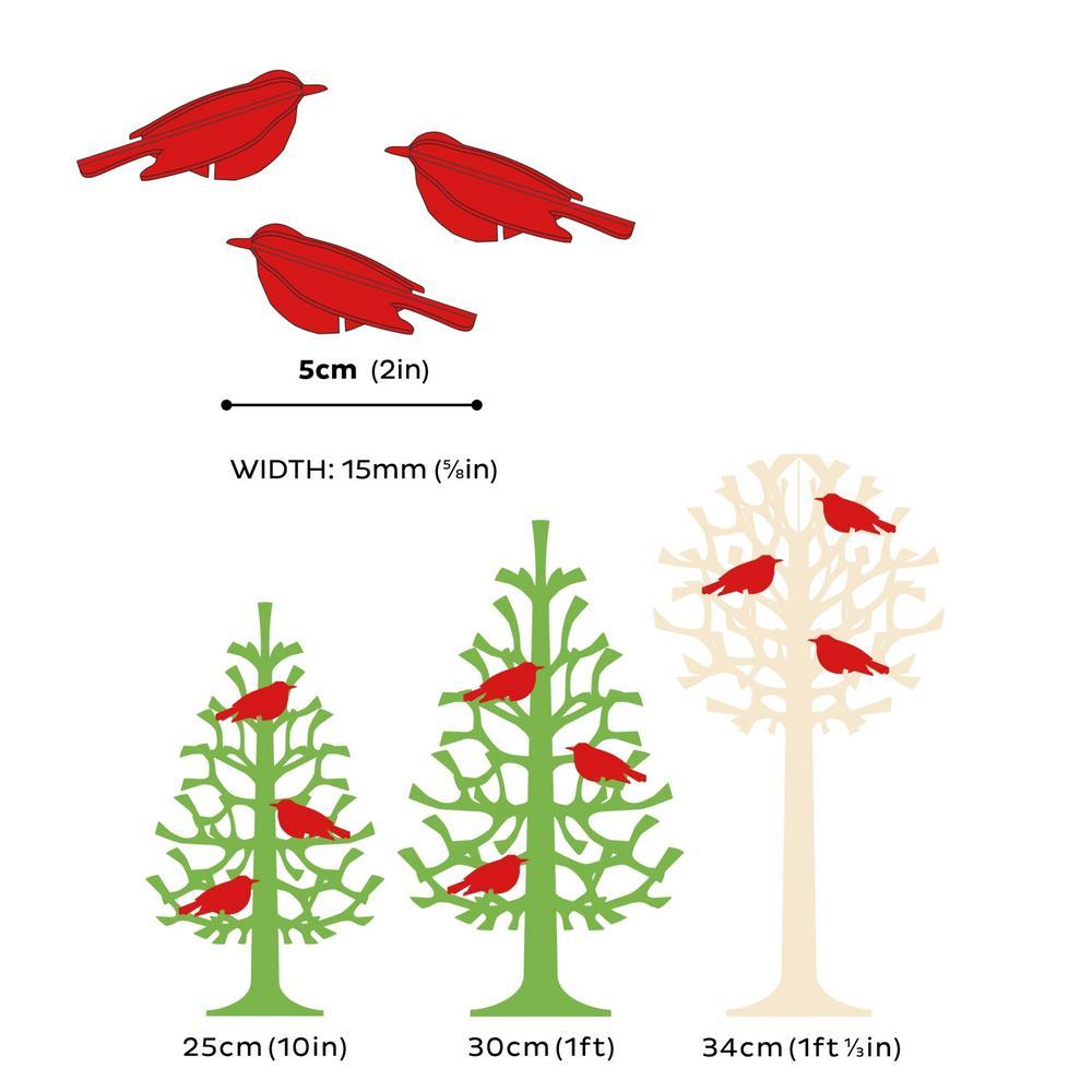 Lovi Minibirds, wooden 3D puzzles, measures
