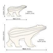 Lovi Polar Bear, wooden 3D puzzle, measures