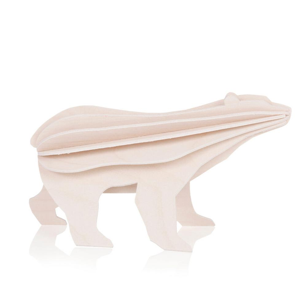 Lovi Polar Bear, white, wooden 3D puzzle