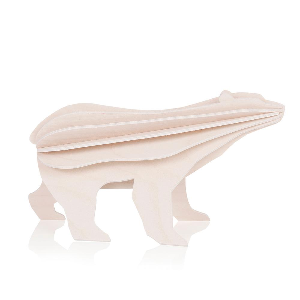Lovi Polar Bear, white, wooden 3D puzzle