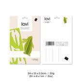 Lovi-pupu, vaaleanvihreä, pakkaus, mitat ja paino
