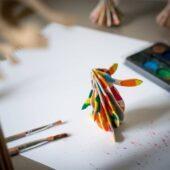 Lovi-pupu, maalaa itse, koottava puinen hahmo