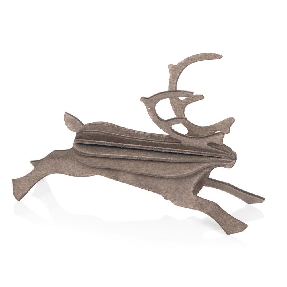 Lovi-poro, harmaa, koottava puinen hahmo