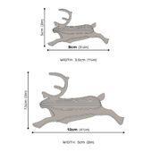 Lovi-poro, koottava puinen hahmo, mittakuva