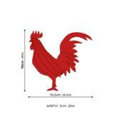 Lovi Rooster, wooden 3D puzzle, measures