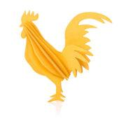 Lovi Rooster, warm yellow, wooden 3D puzzle