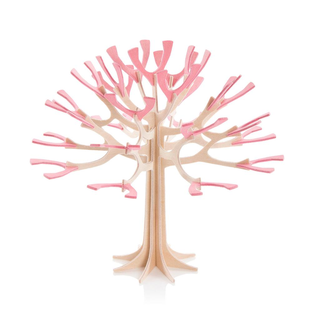 Lovi Season Tree, light pink, wooden 3D puzzle