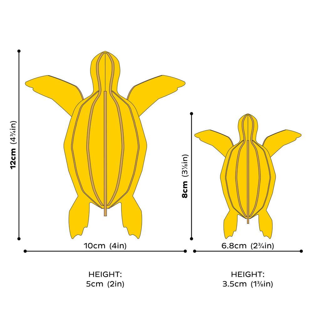 Lovi Sea Turtle, wooden 3D puzzle, measures