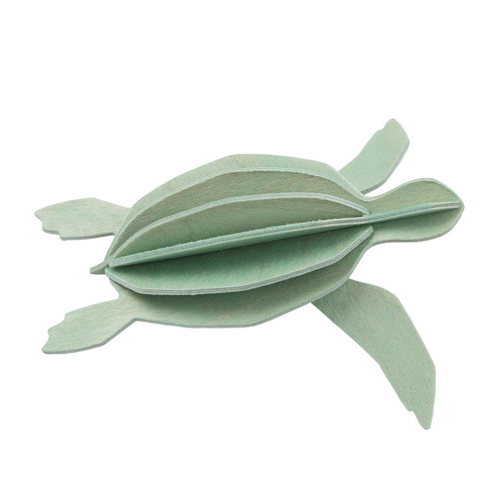 Lovi Sea Turtle, mint green, wooden 3D puzzle