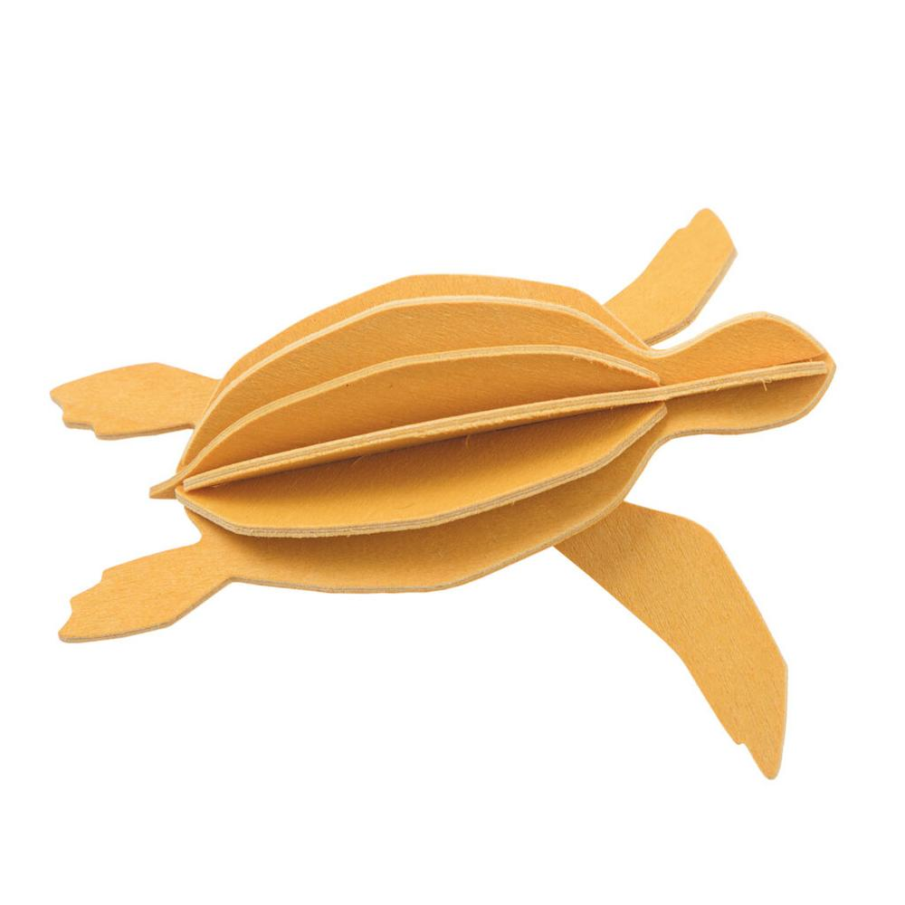 Lovi Sea Turtle, warm yellow, wooden 3D puzzle
