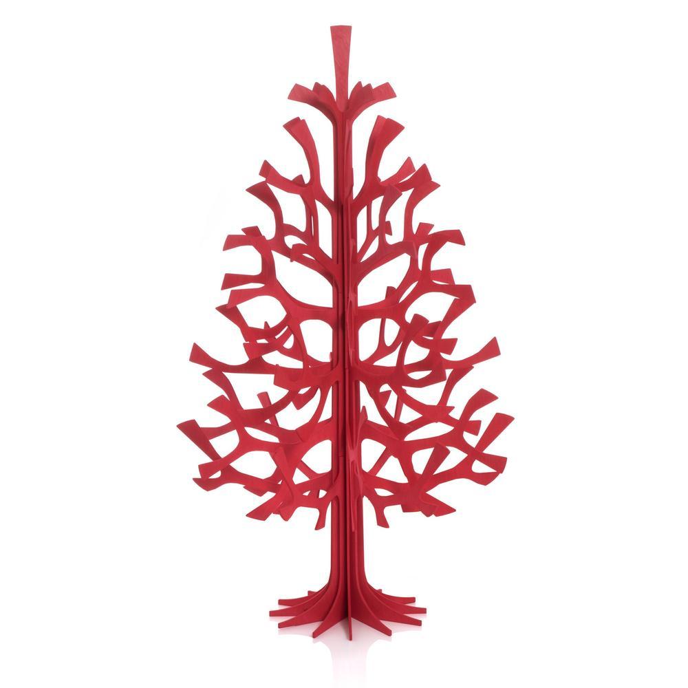 Lovi Spruce 100cm, bright red, wooden 3D figure
