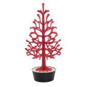 Lovi Spruce 120cm, bright red with black pot, wooden 3D figure